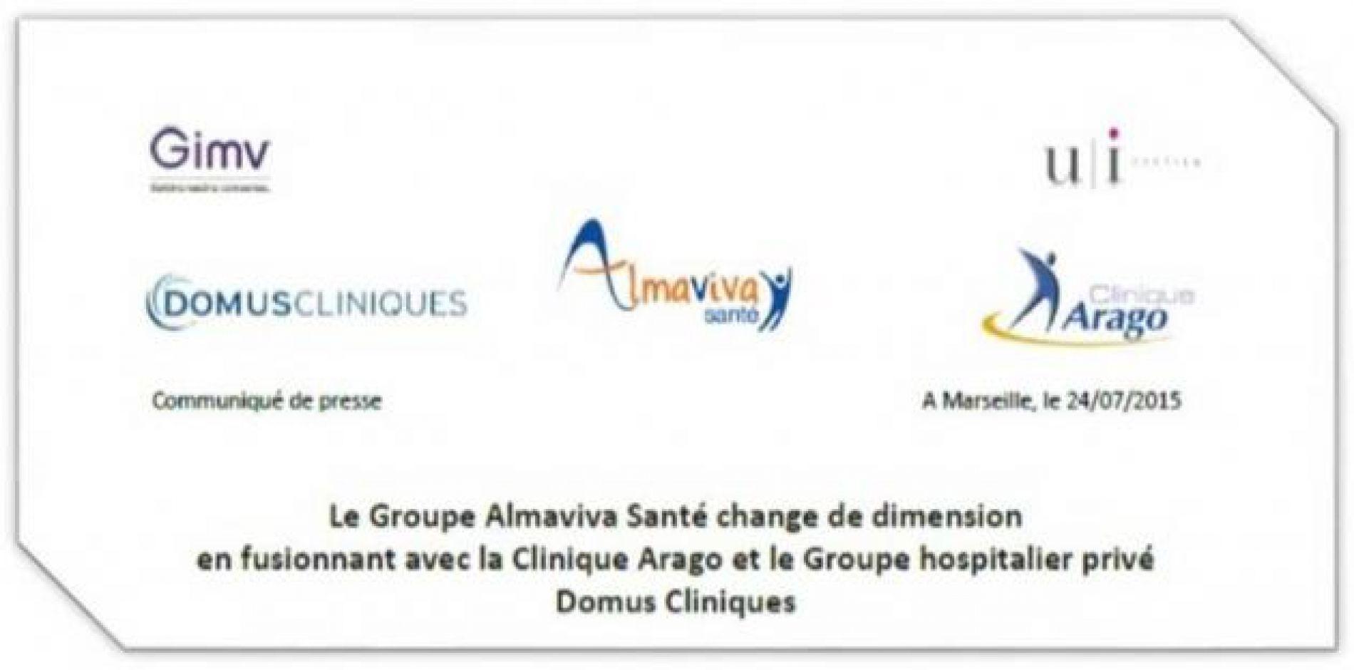 ALMAVIVA SANTÉ DEVIENT 6ÈME GROUPE HOSPITALIER PRIVÉ DE FRANCE