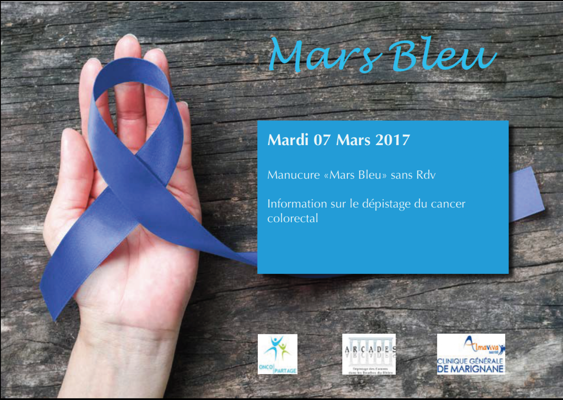Mars Bleu - Dépistage du cancer colorectal